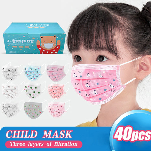 40pc Kids Mascarillas Disposable Facemask scarf Mondkapjes Face Maskswashable And Reusable Mascarilla Reutilizable Mondmasker