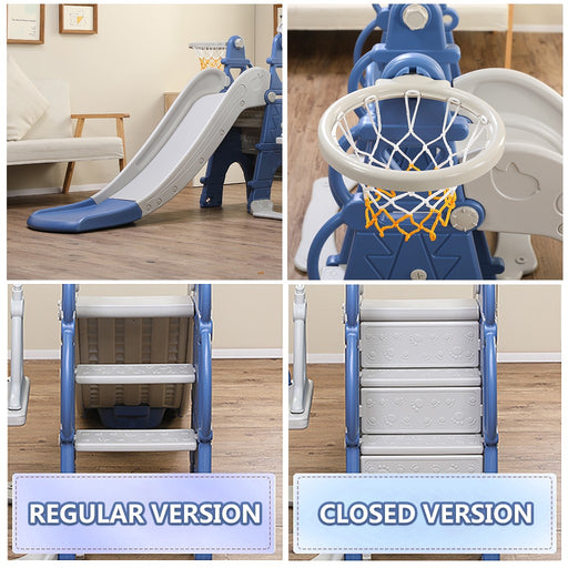 Kids 5 in 1 Slides & Swings | Basketball & Football Play Set