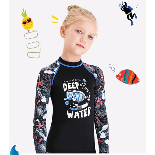 Kids Girls Boys Fashion Diving Suit Neoprenes Wetsuit Children For Keep Warm Split Short Sleeve UV Protection Swimwear Clothes