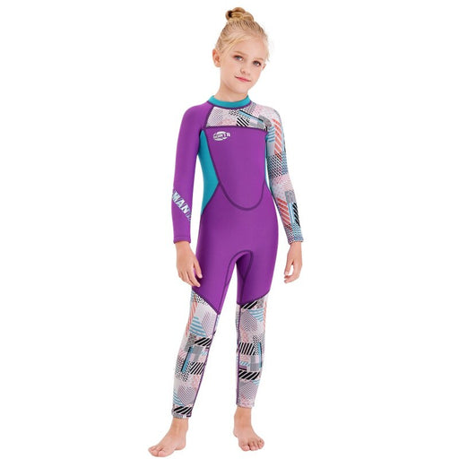 2020 New Kids Diving Suit 2.5MM Neoprenes Wetsuit Children  Boys Girls Keep Warm One-piece Long Sleeves UV Protection Swimwear