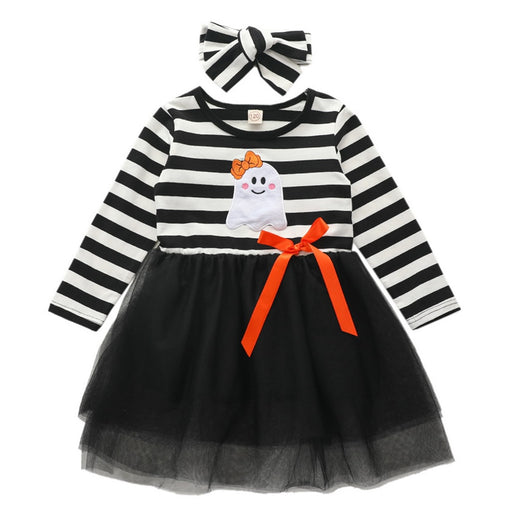 Baby Girls Lace Frock & Headband Set | Halloween Outfits