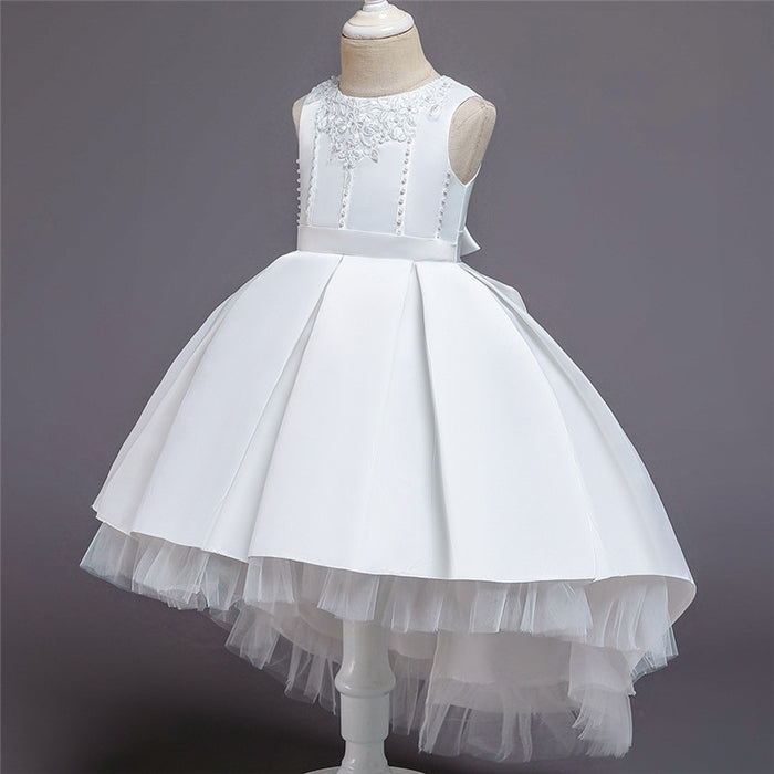 Girl Dress Lace Appliques Tutu Children Kids Dresses For Girls Birthday Dresses Girls Formal Wedding Party Clothing