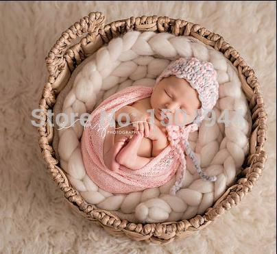 160*50cm Mesh Gauze Cheesecloth Wraps Baby To Maternity Photography Props Hammocks For Newborn Photo - KiddyLanes