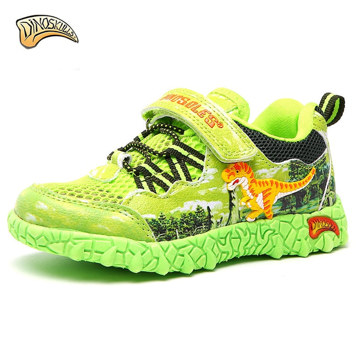 LED Light Sneakers | Boys Sports Shoes | Dinosaur Boys Beach Trainers