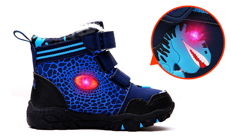 LED Light Sneakers | Winter Snow Boots | Boys Dinosaur Shoes