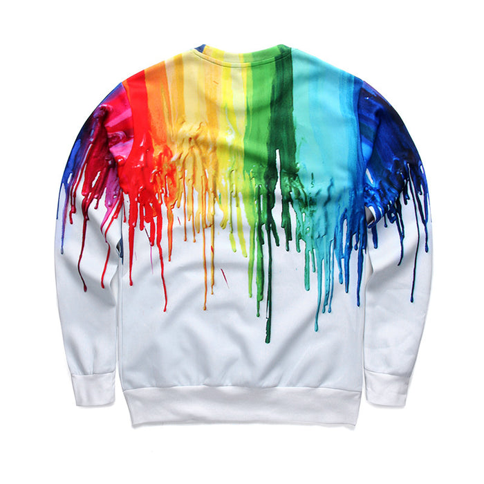 3D Graffiti Ink Printed Hoodies Sportswear Teens Unisex