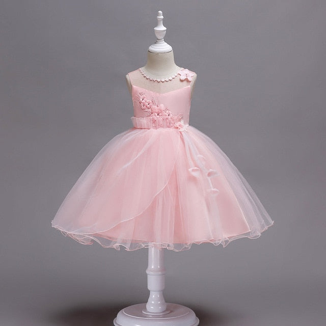 New pattern tutu dress Girl Summer Dresses for Princess Evening baby Party Dresses Kids  clothes for Wedding Holiday