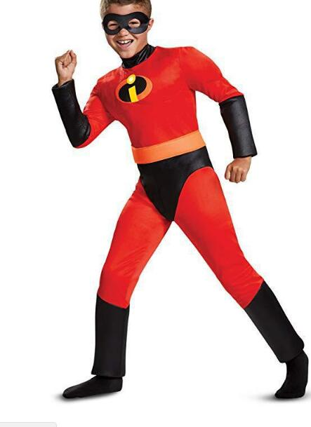 Halloween Costume Mr. Incredible 2  Jumpsuit Incredibles girls Violet/boys Cosplay Kids hero fancy dress