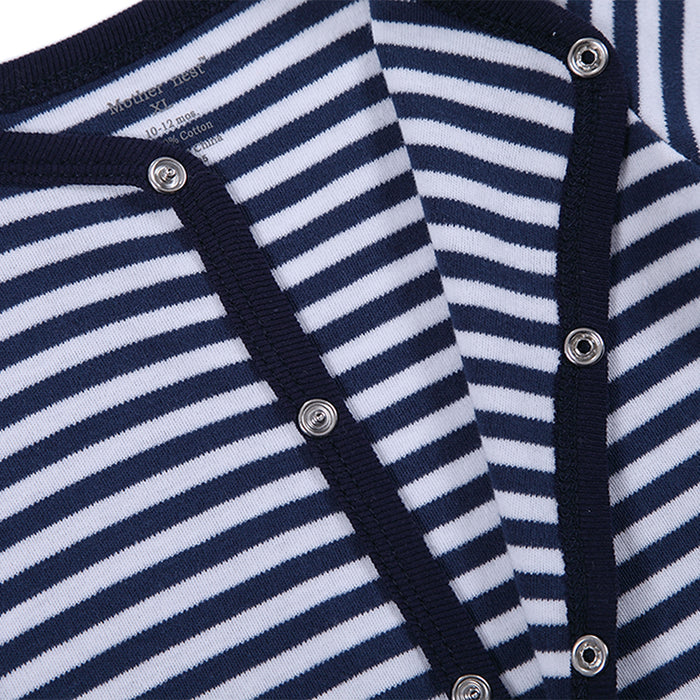 Winter Soft and Comfortable Baby Clothes  |100% cotton Black Stripped Baby Sleepwear | - KiddyLanes