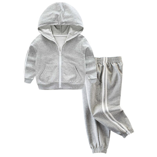 Boys & Girls Activewear Track Suits | Kids Zipper Hooded Clothing Set