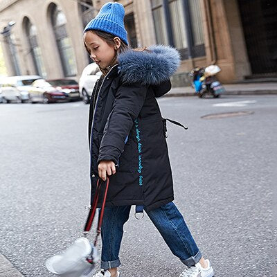 Children's Winter Graffiti Warm Jacket Cotton-padded Jacket Cotton-padded Clothes Winter Jacket Park for Russia Winter Coat