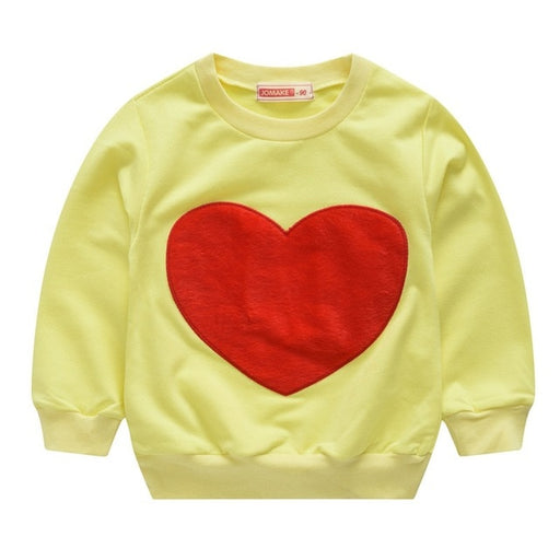 Unisex Winter Casuals | Boy Girl Heart Print Sweatshirts & Pullovers