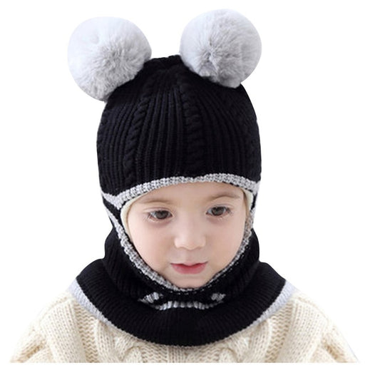 Unisex Winter Caps | Kids Warm Knitted Beanie Caps