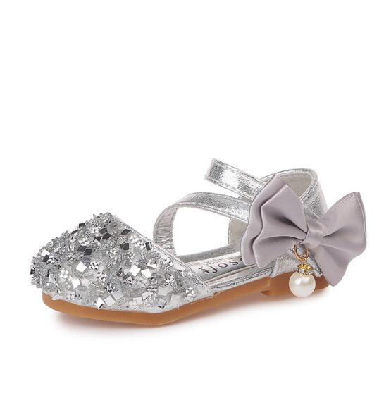 Girls Sandals Sequins Glitter Shoes | Girls Children Princess Dress Party Shoes | Glittering Stones Shoes