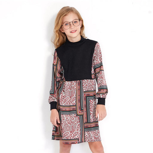 Girls Party Wear Casuals | A-Line Chiffon Short Kaftan Print Dress
