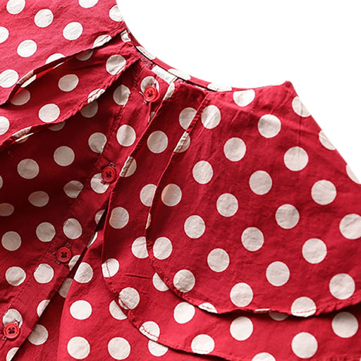Girls Casual Shirt Top | Girls Polka Dot Print Shirt Blouse
