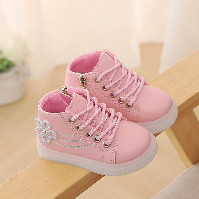 LED Light Baby Girls Sneakers | Sports/Boot Shoes