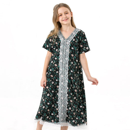 Girls Casual Wear | Girls Abaya | Floral Print Chiffon Long Maxi Dress