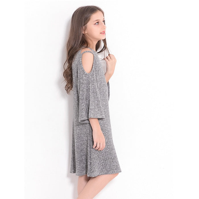 Girls Winter Casuals | Girls Strapless A-Line Long Dress