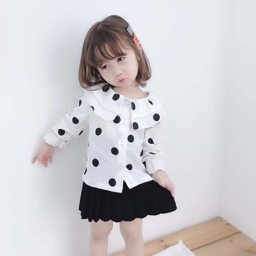 Baby Girls Casuals | Toddler Girls Polka Dot Pattern Shirts & Tops