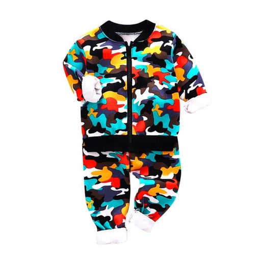 Unisex Boys & Girls Camouflage Clothing | Kids Pullover+Pant Set
