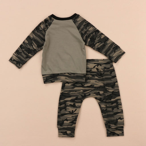 Newborn Unisex Clothing Sets | Kids T-Shirt & Army Camouflage Trouser