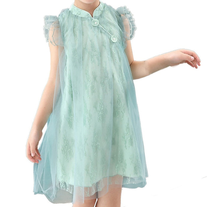 Girls Beautiful Fairy Dress Girls Mesh Lace Tutu Party
