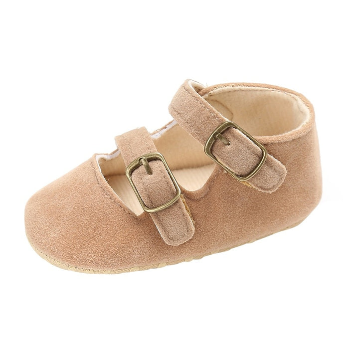 Newborn Baby Girls First Walker Shoes | Girls Soft Strap Crib Shoes
