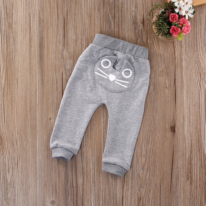 Newborn Girls Pants/Cotton Warm Trousers - KiddyLanes