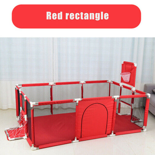Baby Kids mesh net fencing, basketball stand, ball pool, activity red playpen.