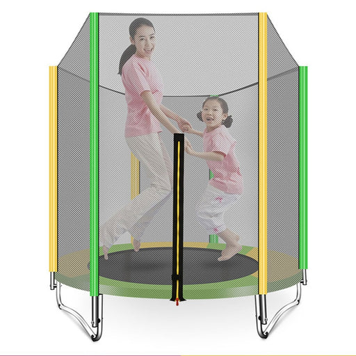 Kids indoor folding trampoline, courtyard exercise jumping bed, mesh net trampoline.