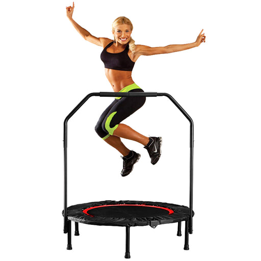 Mini adjustable, jumping exercise bed, indoor trampoline.