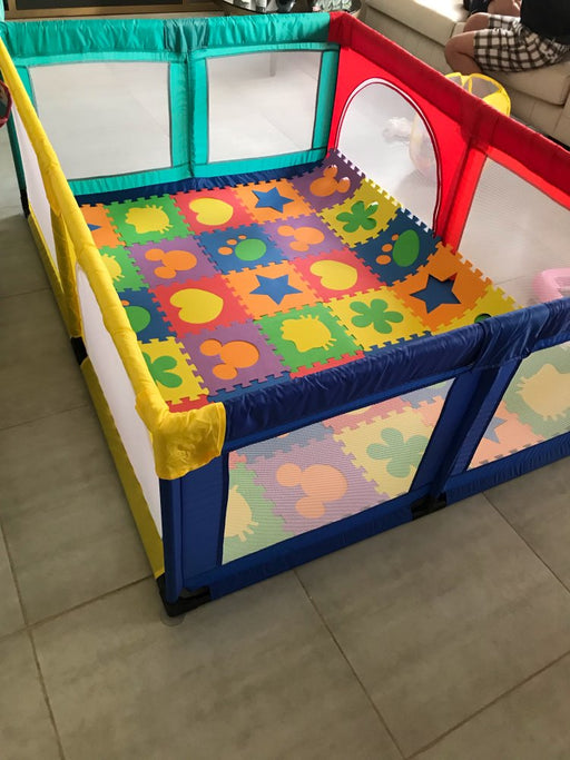 Baby Kids net and steel pipes fence tent, fold able colorful ball pool, indoor playpen.