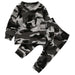 Unisex 2 Pcs  baby clothing set Toddler Infant Camouflage  Baby Boy Girl Clothes T-shirt Tops+Pants Outfits Set - KiddyLanes