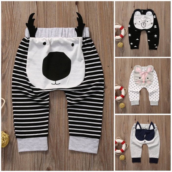 Casual Toddler Bottoms Pants Hot Infant Cartoon Harem Pants Baby Boy Animal Trousers - KiddyLanes