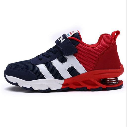 New Design Children Sports Shoes for Boys & Girls Spring Damping Outsole Slip Patchwork | Breathable Kids Sneakers Child Running Shoes - KiddyLanes