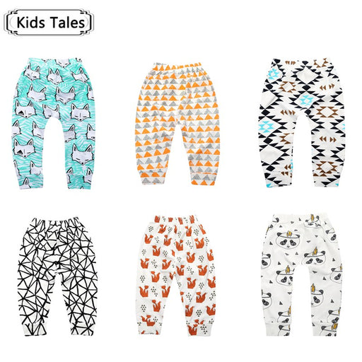 Children's trousers baby cotton pants  fox baby panda born trouser animals - KiddyLanes