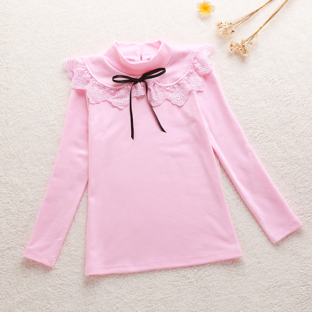 Children's clothing female child shirt long-sleeve spring and autumn Children t-shirt child thin top baby girl clothes - KiddyLanes