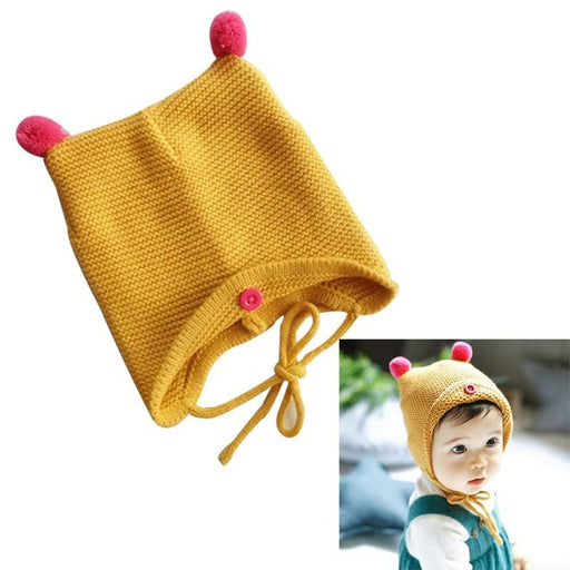 Fashion Autumn Winter Warm Cotton Baby Hat Girl Boy Toddler Infant Kids Caps Brand Candy Color Cute Baby Accessories for 6-24M - KiddyLanes