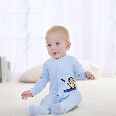 Baby Boy Girl Footies Pajamas Original Cotton Spring Sleepwear 1piece Pja Mother Nest Animal Christmas Coverall - KiddyLanes