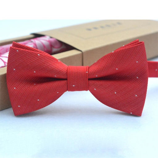 Children Bow Tie Baby Boy Kid Clothing Accessories Solid Color Gentleman Shirt Neck Tie Bowknot Dot - KiddyLanes