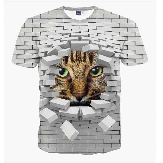 Newest 3D Animal t-shirt for boys and girls funny magical super cat cute animal printed big kids t shirt - KiddyLanes
