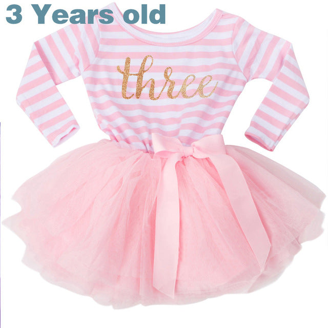 Winter Baby Girl Baptism Dress Clothes For Newborn Infant 1 2 3 Year B