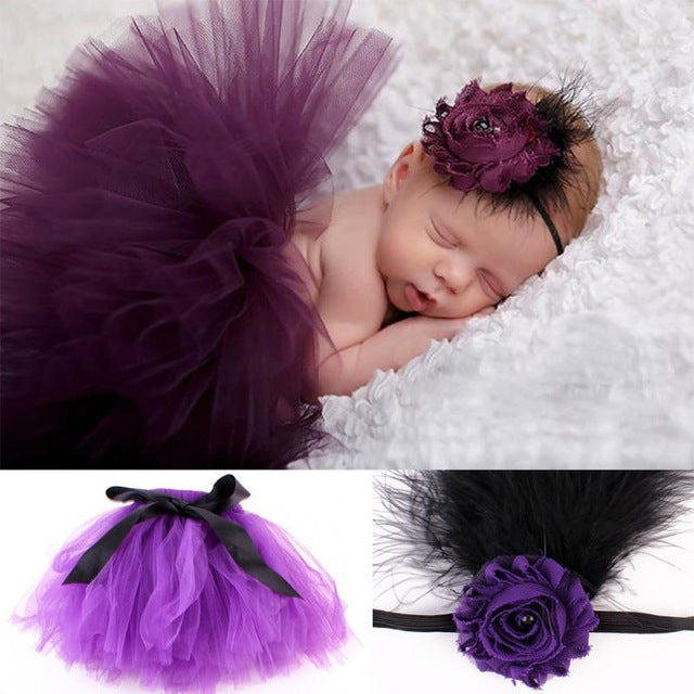 Newborn Girl Tulle Tutu Skirt - KiddyLanes