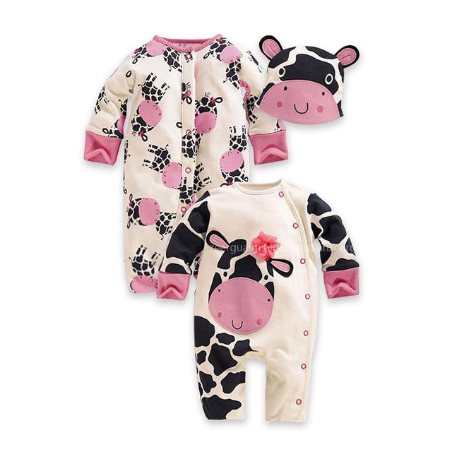 3 Pcs Newborn Clothing sets or Baby Rompers with Hats - KiddyLanes