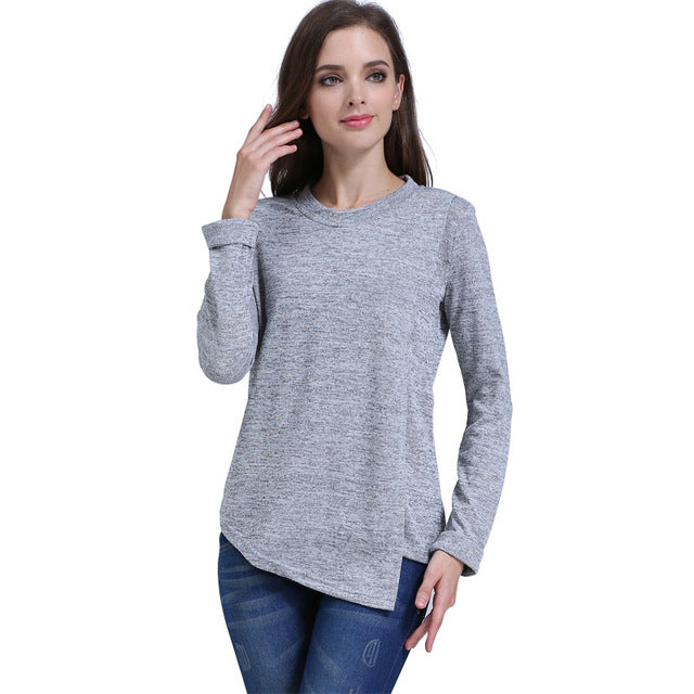99f5d5d6b5ca7 Emotion Moms Fashion Maternity Clothes long sleeve Maternity tops Nursing  top Breastfeeding Clothes for Pregnant Women