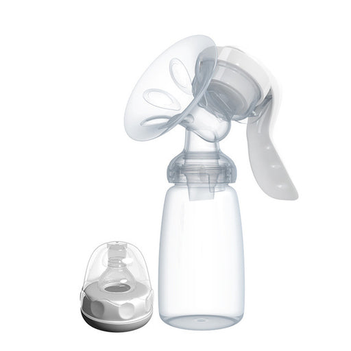 Manual Breast Pump Powerful Baby Nipple Suction 150ml  Feeding Milk Bottles Breasts Pumps Bottle Sucking T0099 - KiddyLanes