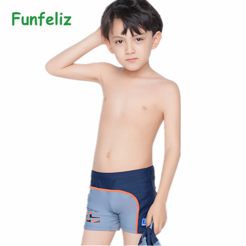 fb65215ad3 Children's swimming trunks with swimming cap boys swimwear kids 6T-14T swimsuit  boy bathing suits