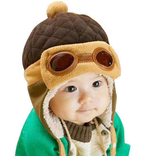 10 to 48 Months Baby Winter Hat 4 Colors Toddlers Cool Baby Boy Girl Infant Winter Pilot Warm Kids Cap Hat Beanie - KiddyLanes