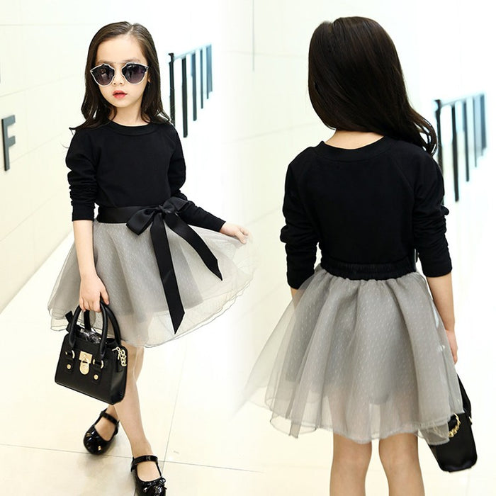 Teenage Girls Clothing Sets Tutu Skirt Set 2 pcs Spring Fall New Kids Clothes Sets for Children Long Sleeve T-shirt & Skirt - KiddyLanes